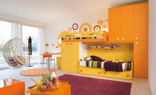 Kinderzimmer gestaltung grelle farbt ne clever einsetzen for Idee fur kinderzimmer