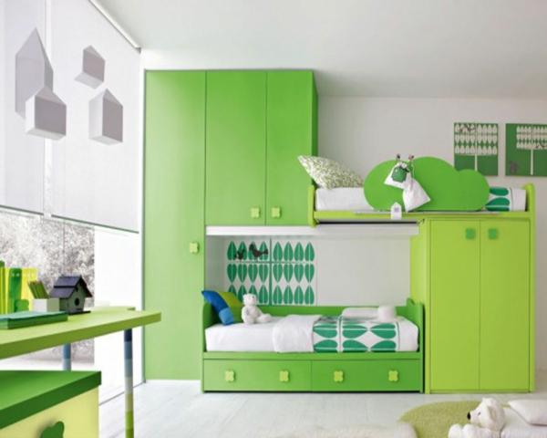 idee kinderzimmer gestaltung grün
