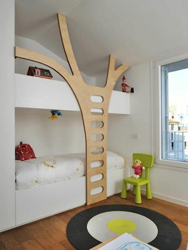 idee kinderzimmer gestaltung grell grün stuhl