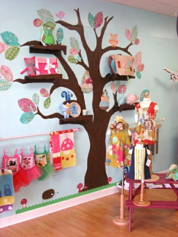 Babyzimmer wandgestaltung selber malen  Kinderzimmer Wand Ideen Baum | gerakaceh.info