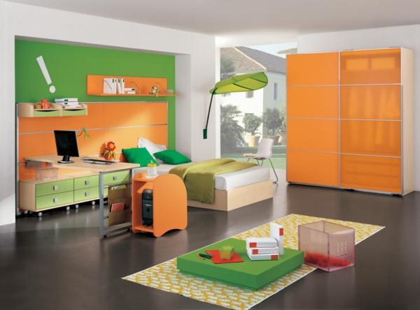 idee kinderzimmer gestaltung orange