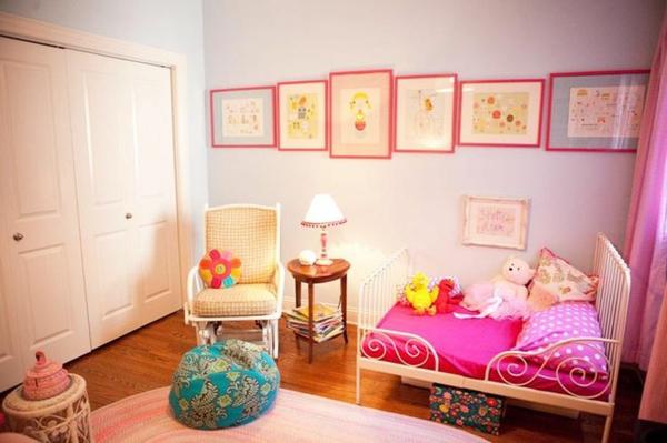 idee kinderzimmer gestaltung pink bettwäsche