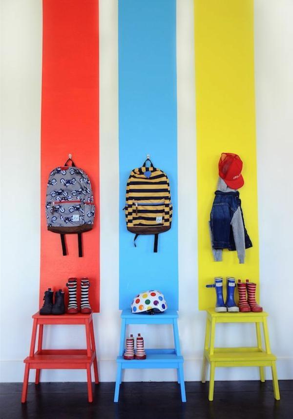 idee kinderzimmer gestaltung rot blau gelb