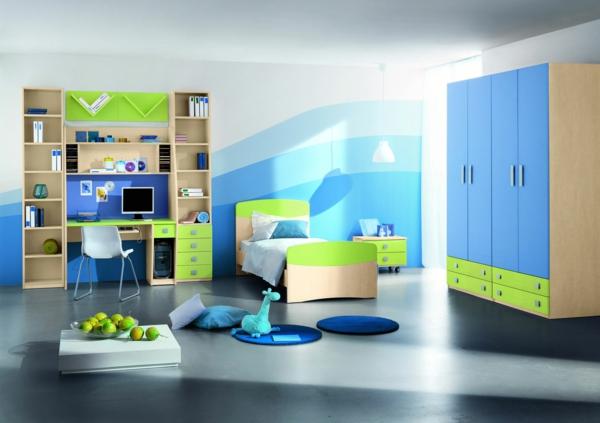 Kinderzimmer Gestaltung Idee : Knalle Farben könnte man durch Windspiele oder solche Mobilee