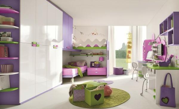 Kinderzimmergestaltung  Kinderzimmer Gestaltung - grelle Farbtöne clever einsetzen