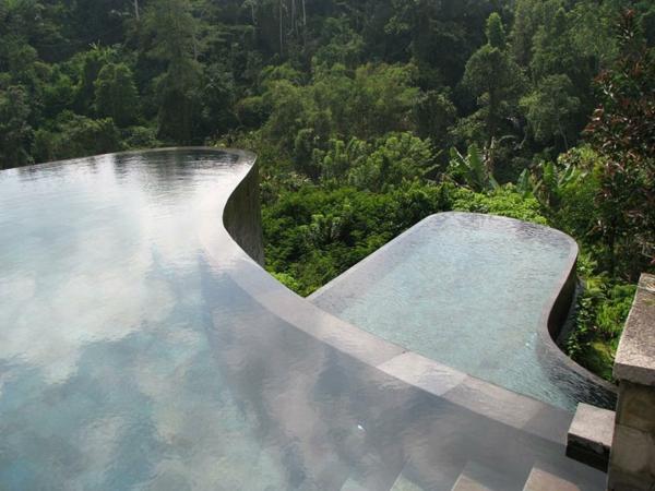 indonesien hotel pool infinity hotel ubud hängend garten