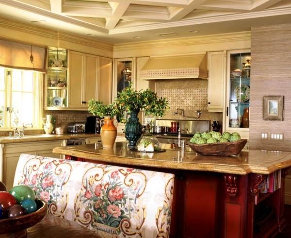 küche mit kochinsel kleine küche funktional gestalten und frisch dekorieren