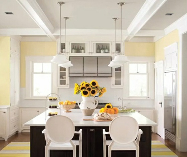 küche wandfarben ideen wandfarbe pastellgelb einrichtungsideen