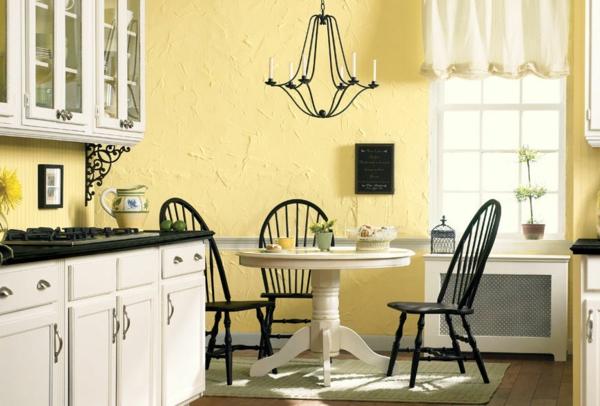 küchenideen wandfarbe eierschalenfarben wandfarben palette gelb