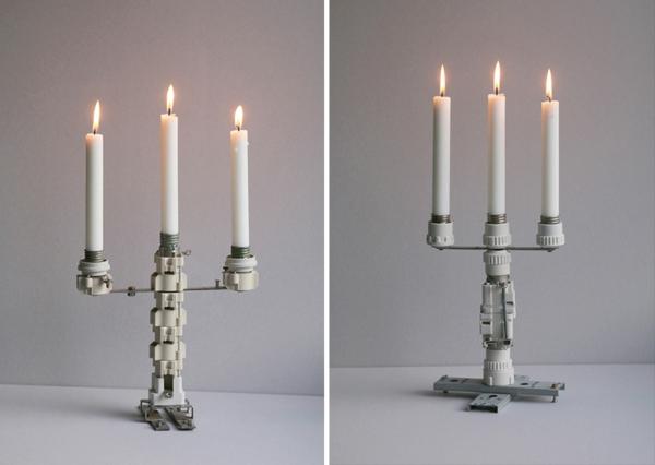 Kerzenhalter basteln alte sicherungsk sten in leuchter transformiert - Kerzenhalter basteln ...