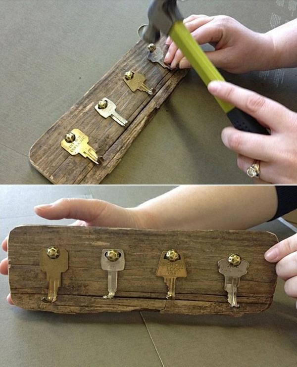 kleiderhaken selber bauen alte schlüssel diy ideen bastelideen