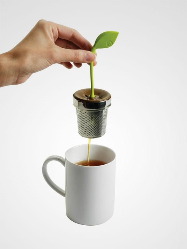 kreative pflanzen Dekoideen Teeei blumentopf