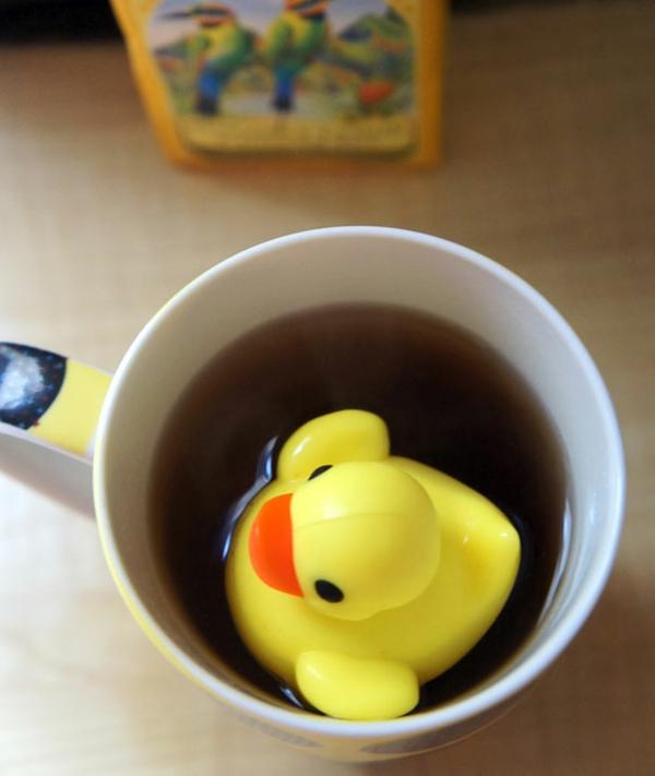 kreative getränk Dekoideen für Teeei duck