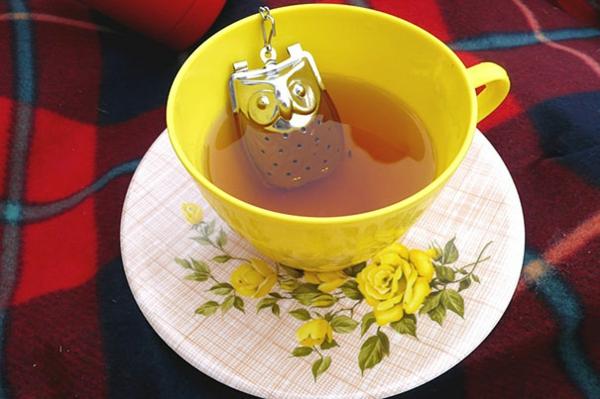 kreative metall Dekoideen für Teeei eule