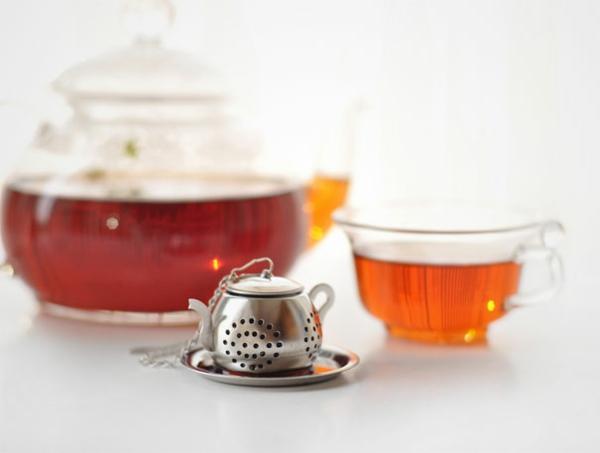 kreative Dekoideen für Teeei klein toll teekanne
