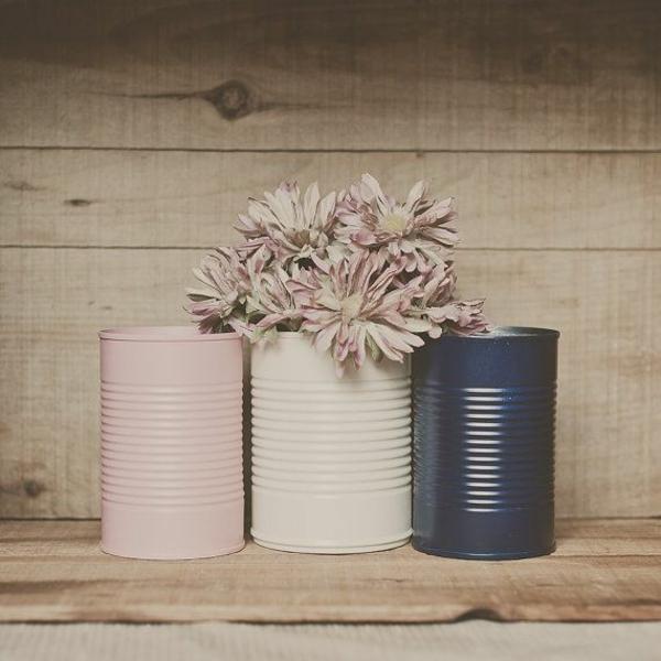 kreative bastelideen do it yourself ideen farbdosen aufbewahrungsdosen pastelfarben