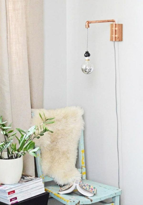 kreative bastelideen do it yourself ideen wandlampe röhren
