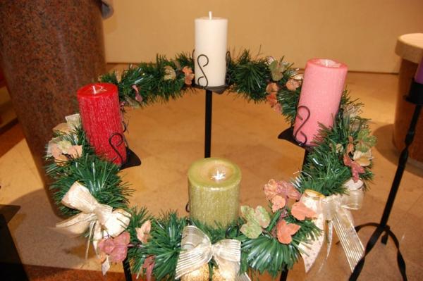 kreative bastelideen weihnachtsdeko basteln kranz