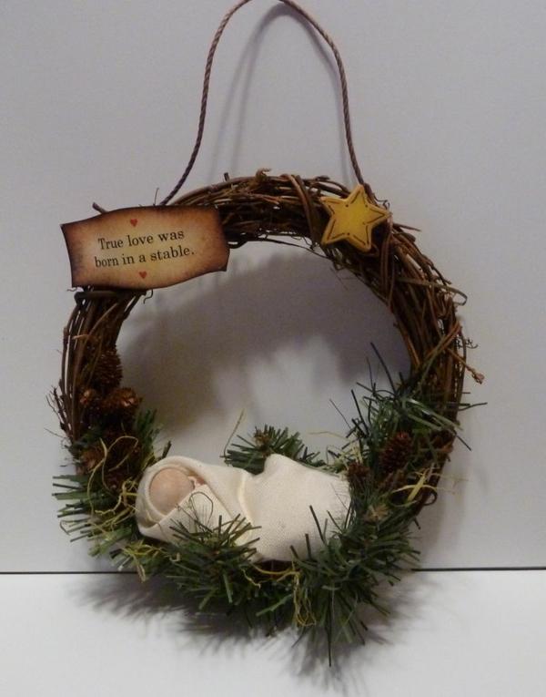 kreative bastelideen weihnachtsdeko ideen türkranz weihnachten
