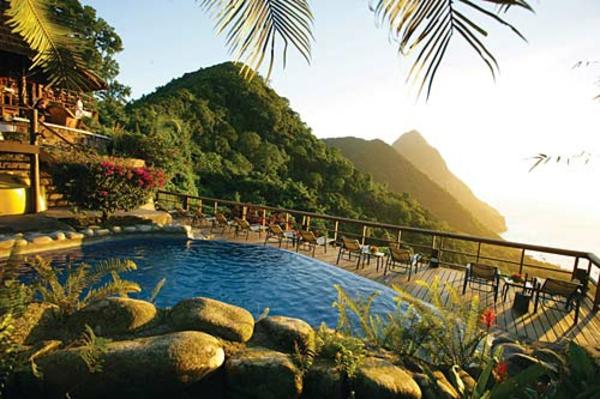 ladera hotel caribbean gebirge pool infinity