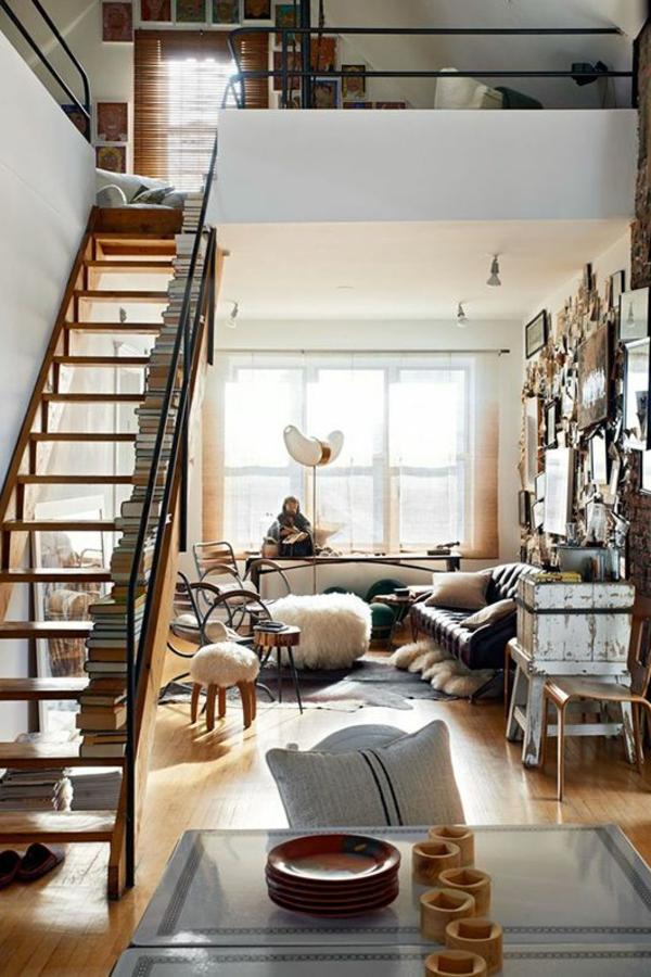 landhausstil wohnzimmer einrichten fellteppich holz wohnzimmermöbel