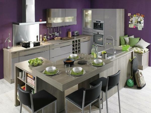 metod küchen grau lila