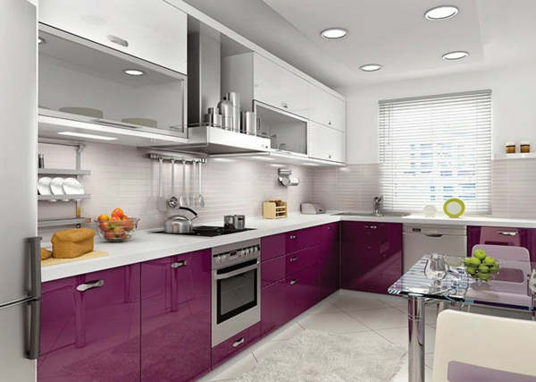 metod küchen hochglanz violet