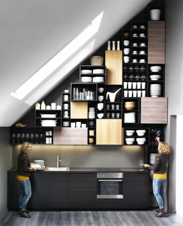 metod küchen ikea holz schwarz