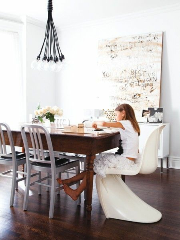 moderne esszimmerstühle küche esszimmer akryl