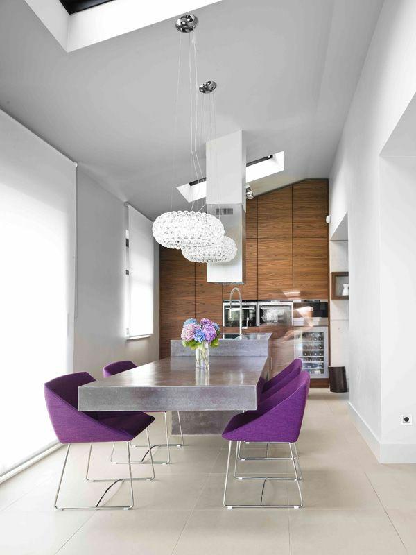moderne esszimmer stühle esstische küche esszimmer feminin purpurrot