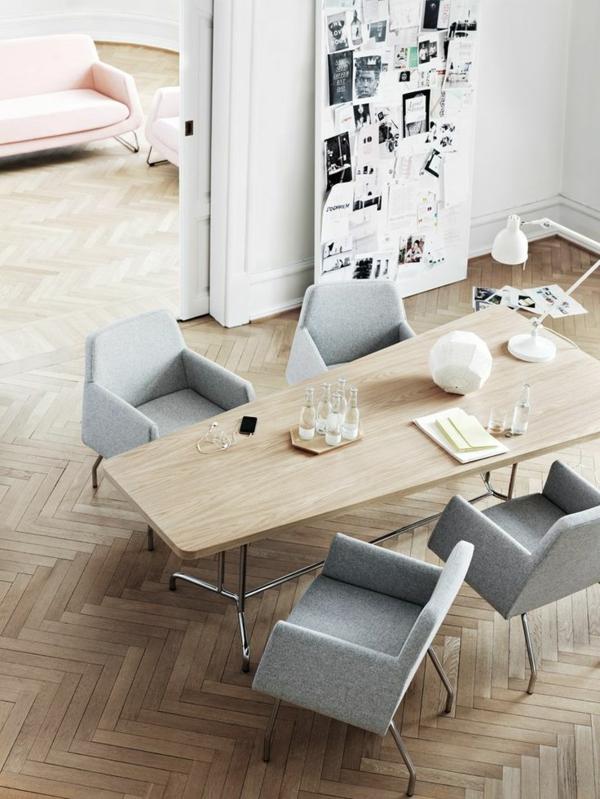 moderne esstische küche esszimmer geometrisch esszimmerstühle