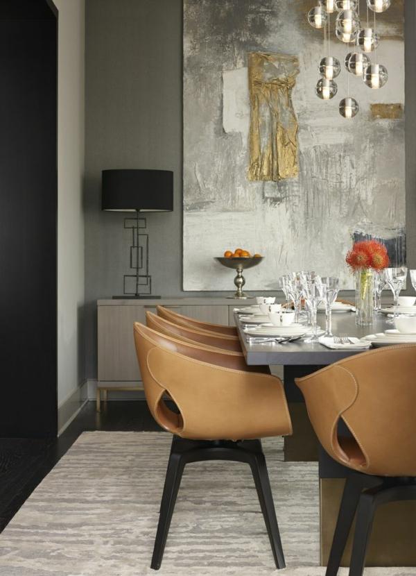 moderne esszimmerstühle esstische küche esszimmer leder