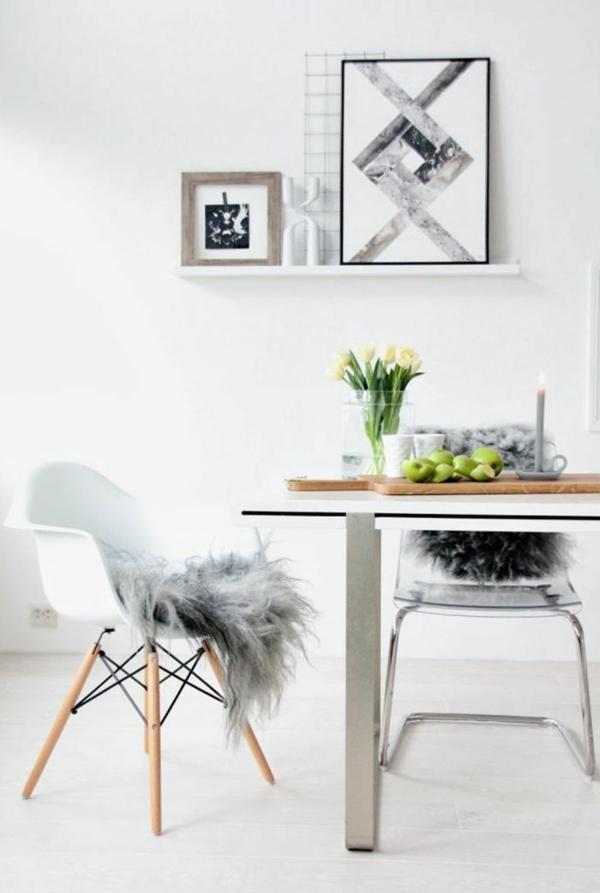 moderne esszimmerstühle esstische küche esszimmer pelz