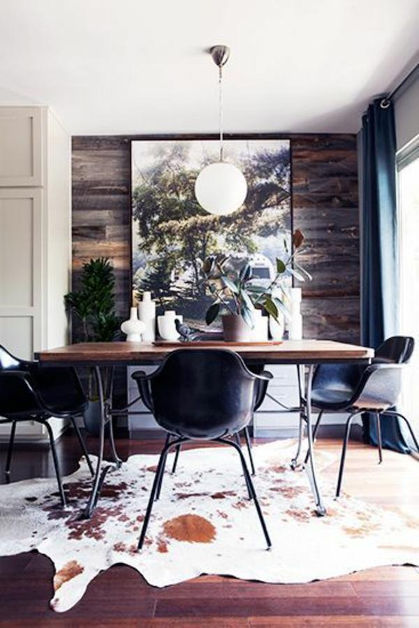 Esszimmerstühle Modernes Design Schwarz ~ 40 moderne Esszimmerstühle ,die dem Raum ein cooles Aussehen