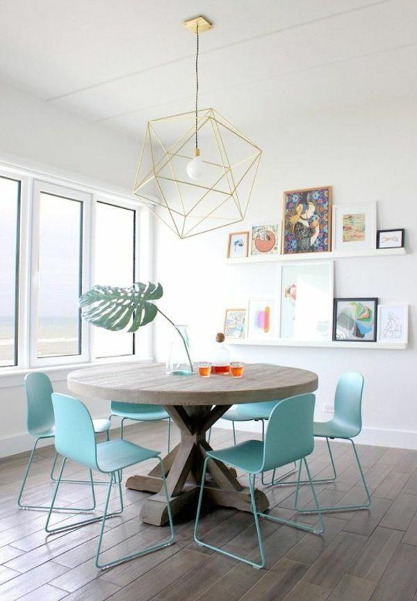moderne stühle esstische küche esszimmer türkis farben