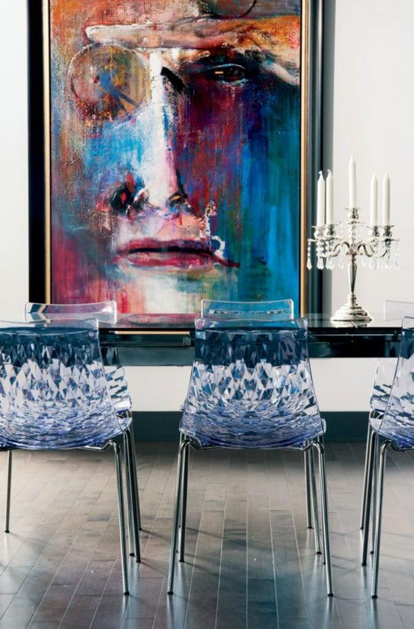 moderne stühle esstische küche esszimmer transparent