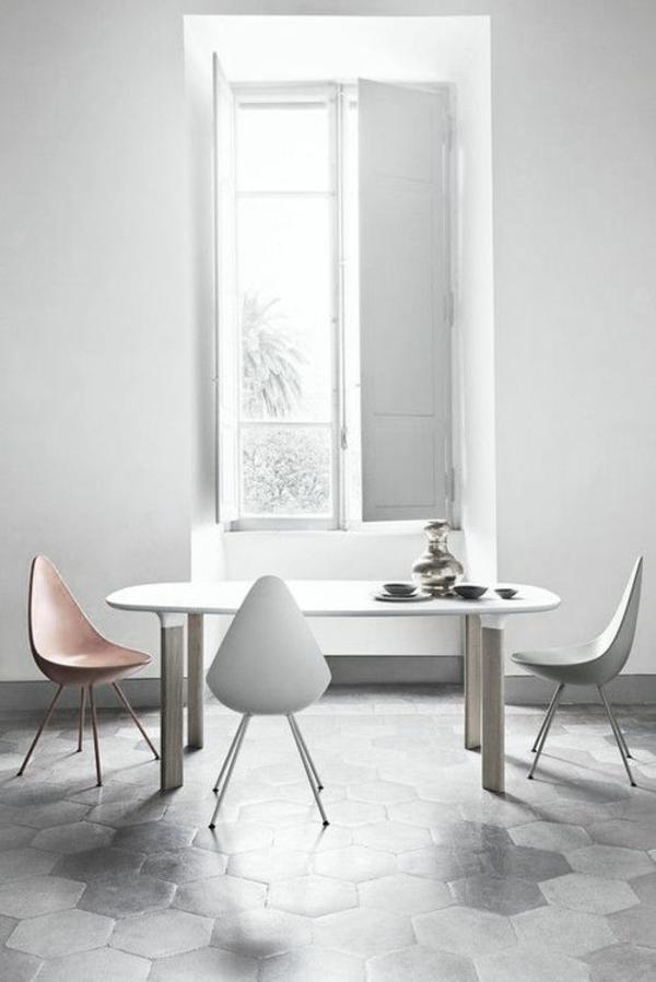 Esszimmerstühle modern weiß  40 moderne Esszimmerstühle ,die dem Raum ein cooles Aussehen verleihen