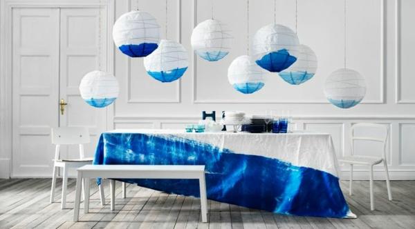 moderne leuchten led pendellampen blau