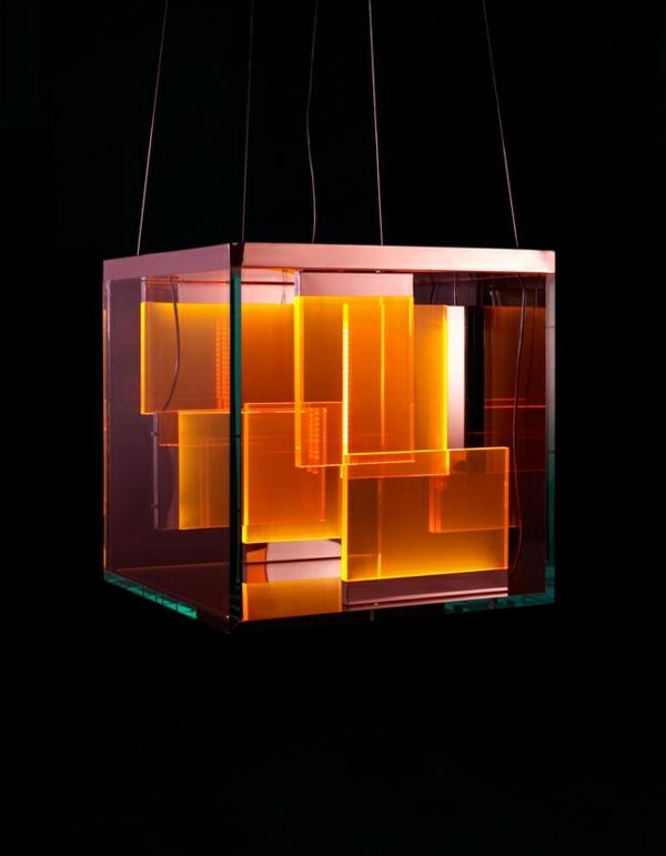 pendelleuchten led pendellampen orange licht