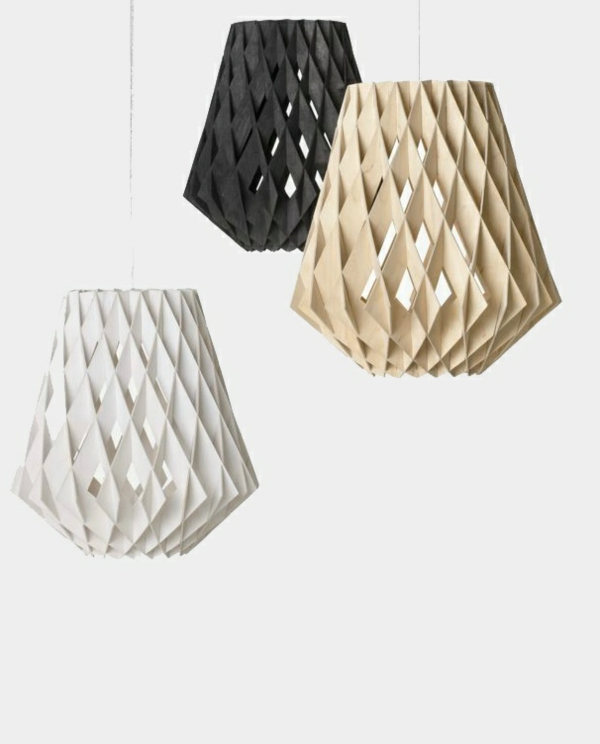 moderne origami pendelleuchten led pendellampen rauten
