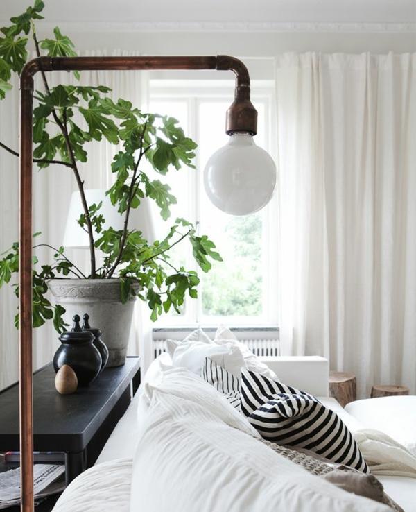 moderne wohnzimmergestaltung stylisch tipps gardinen weiß