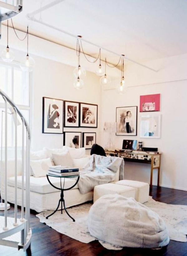moderne wohnzimmer gestaltung stylisch tipps sitzkissen