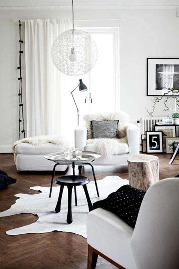 moderne wohnzimmergestaltung stylisch tipps teppich läufer