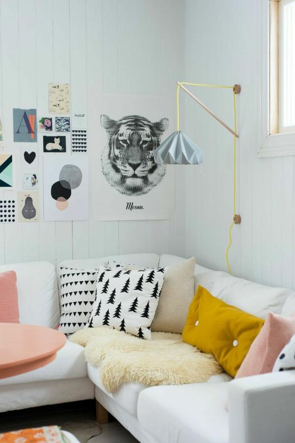 moderne Wohnzimmereinrichtung Ideen stylisch tipps wandsticker