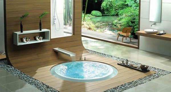 modernes badezimmer ideen bach whirlpool