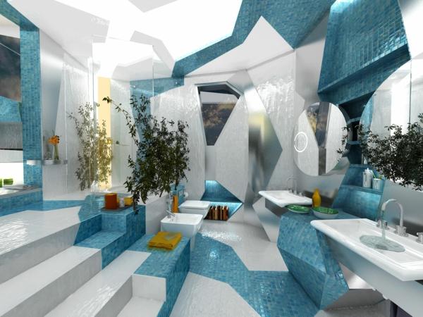 modernes badezimmer ideen futurischtisch - Badezimmer Ideen Wei