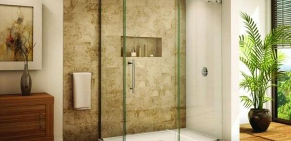modernes badezimmer ideen grüne pflanze