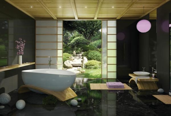 modernes badezimmer ideen japanisch