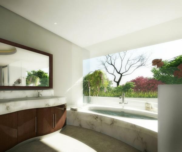 modernes badezimmer ideen marmor