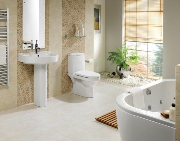 modernes badezimmer ideen mozaik wände